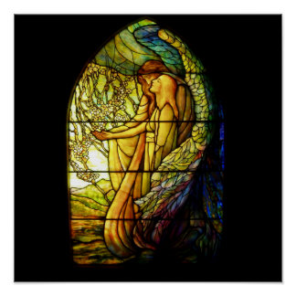 Tiffany Guiding Angel Stain Glass Print