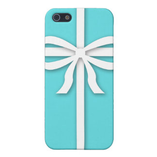 Tiffany-inspired, robins egg blue with ribbon iPhone 5/5S cover