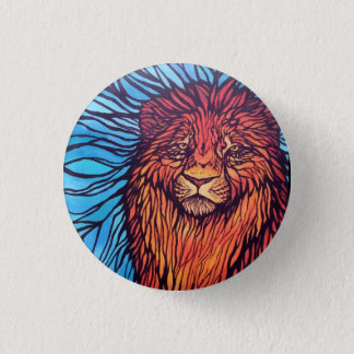 Tiffany Lion Painting 3 Cm Round Badge