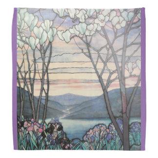Tiffany Magnolias and Irises Kerchief