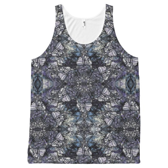 Tiffany Marble All-Over Print Tank Top