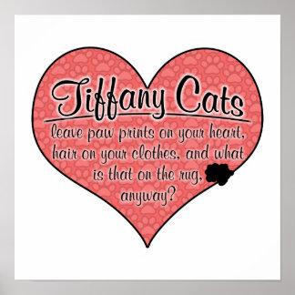 Tiffany Paw Prints Cat Humor Poster