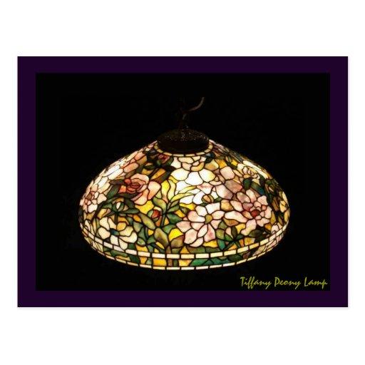 Tiffany Peony Lamp American Art Postcards