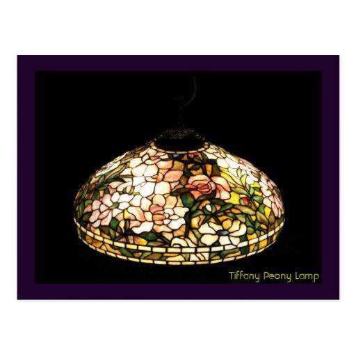Tiffany Peony Lamp Fine Art Post Card