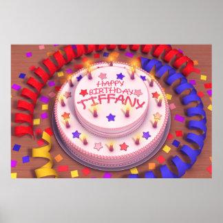 Tiffany s Birthday Cake Poster