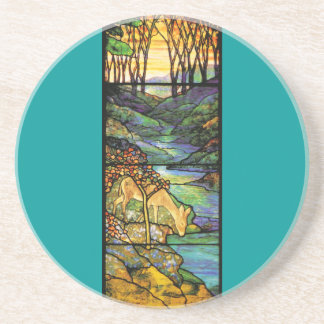 Tiffany Stained Glass Deer Coaster