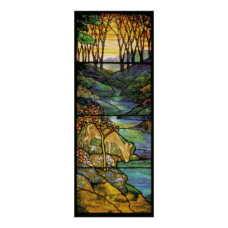 Tiffany Stained Glass Deer Print