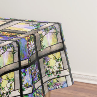 Tiffany Stained Glass Flowers Tablecloth