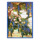 Tiffany Stained Glass Wisteria Card