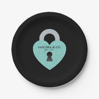 Tiffany Teal Blue Celebration Party Paper Plates