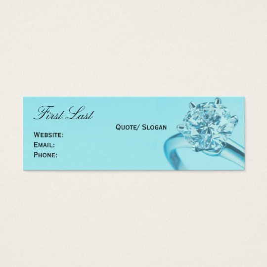 Tiffany's Chic Mini Business Card