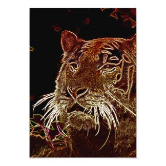 Tiger 13 Cm X 18 Cm Invitation Card