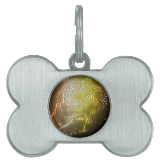 Tiger 2 pet name tag