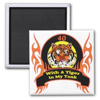 Tiger 40th Birthday Gifts Fridge Magnets