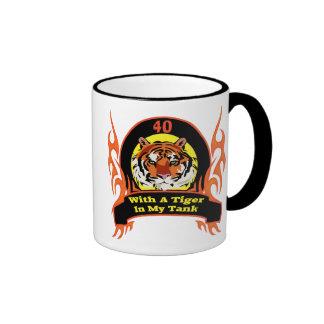 Tiger 40th Birthday Gifts Mugs