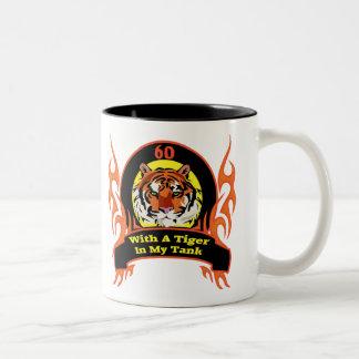 Tiger 60th Birthday Gifts Two-Tone Mug