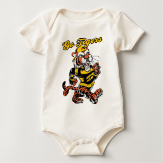 tiger 6 with hat baby bodysuit
