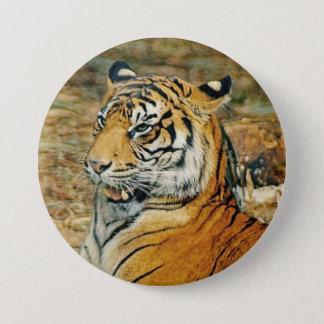 Tiger 7.5 Cm Round Badge
