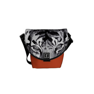 tiger abstract mini Zero messenger bag