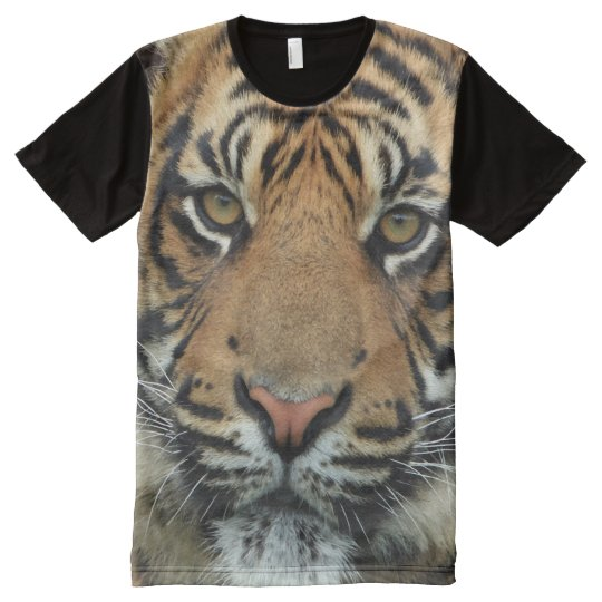 Tiger All-Over Printed Panel T-shirt All-Over Print T-Shirt