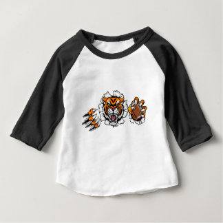 Tiger American Football Ball Breaking Background Baby T-Shirt