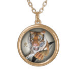 Tiger and Chinese Symbol Pendant