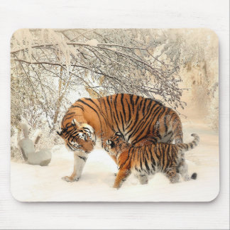 Tiger And Cub Mouse Pad