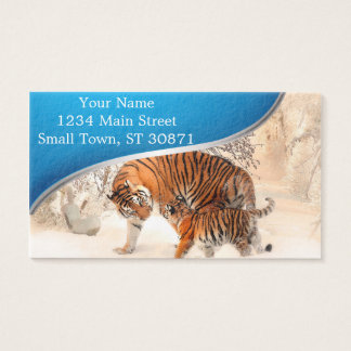Tiger and cub - tiger business card
