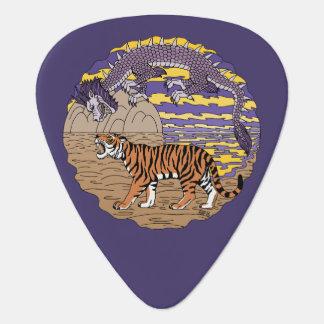 Tiger and Dragon Guitar Pick