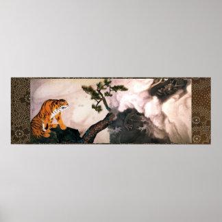 Tiger and dragoon (1781) Maruyama Okyo Posters