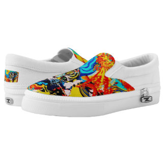 Tiger and Fire Bird #Shoes by WABStreetArt Printed Shoes
