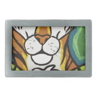 Tiger and leaf belt buckle