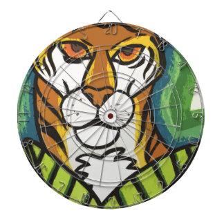 Tiger and leaf dartboard