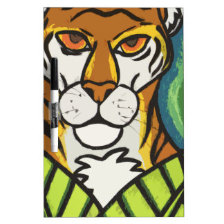Tiger and leaf dry erase board