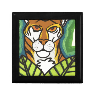 Tiger and leaf gift box