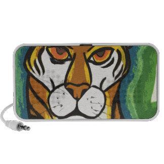 Tiger and leaf travel speaker