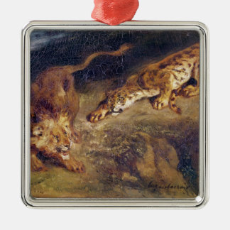 Tiger and Lion Christmas Ornament