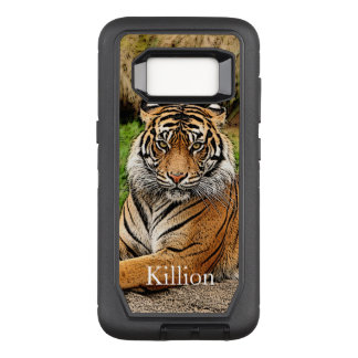 Tiger And Name OtterBox Defender Samsung Galaxy S8 Case