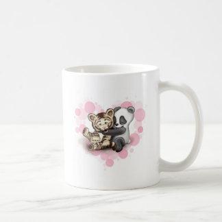 Tiger and Panda Basic White Mug