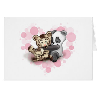 Tiger and Panda Card