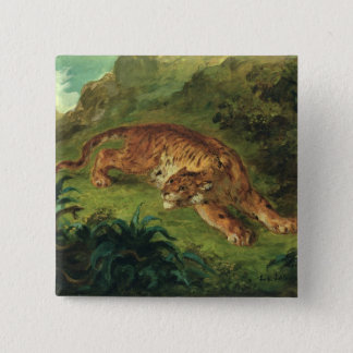 Tiger and Snake, 1858 15 Cm Square Badge