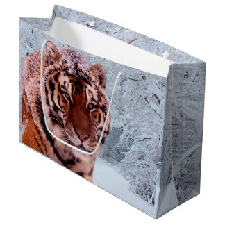 Tiger and Snow Large Gift Bag