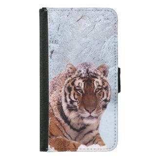 Tiger and Snow Samsung Galaxy S5 Wallet Case