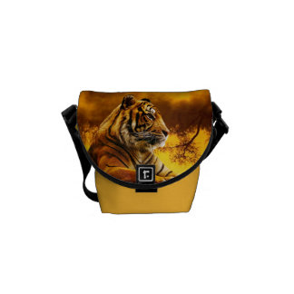Tiger and Sunset Courier Bag