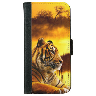 Tiger and Sunset iPhone 6 Wallet Case