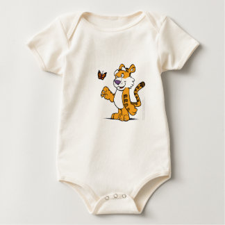 Tiger and the Butterfly Baby Bodysuit