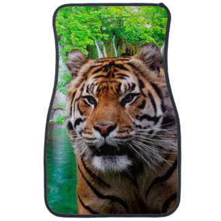 Tiger and Waterfall Car Mat