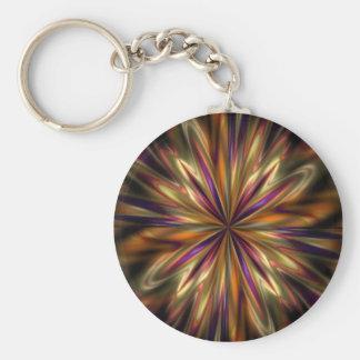 Tiger Anemone Basic Round Button Key Ring