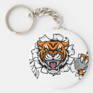 Tiger Angry Esports Mascot Key Ring