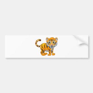 Tiger Animal Cartoon Character Bumper Sticker